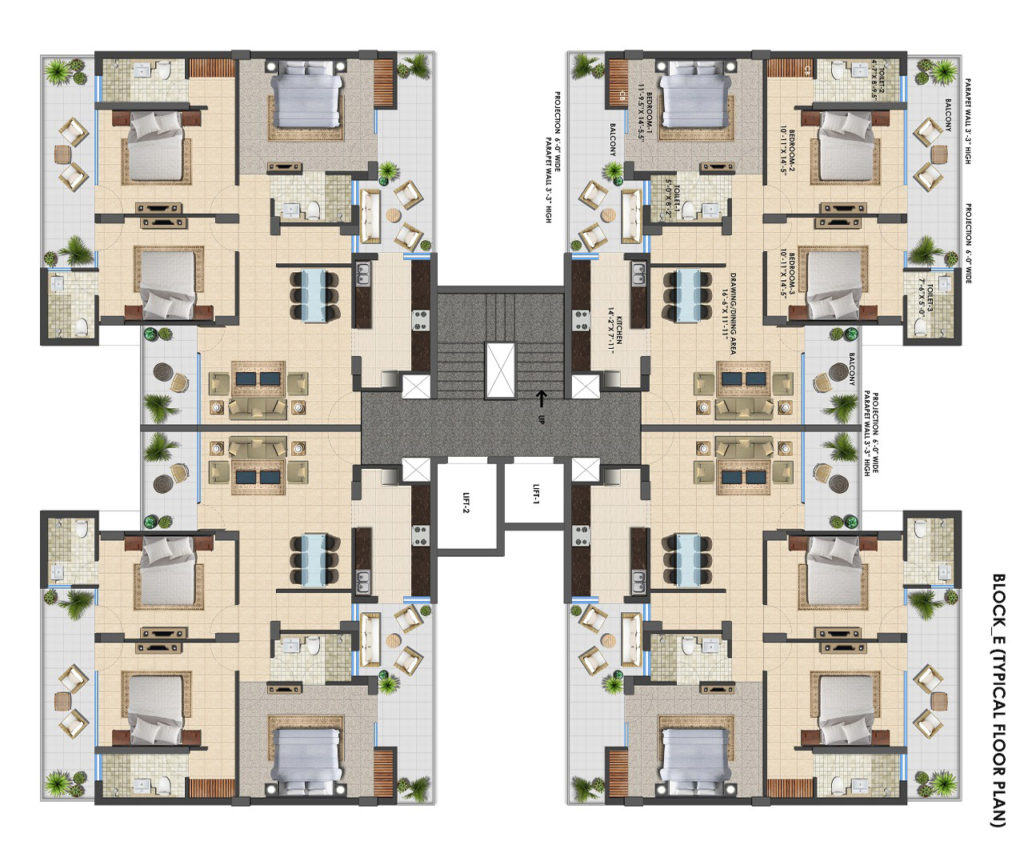 Hermitage Centralis 3 BHK | Tricity Property Searches