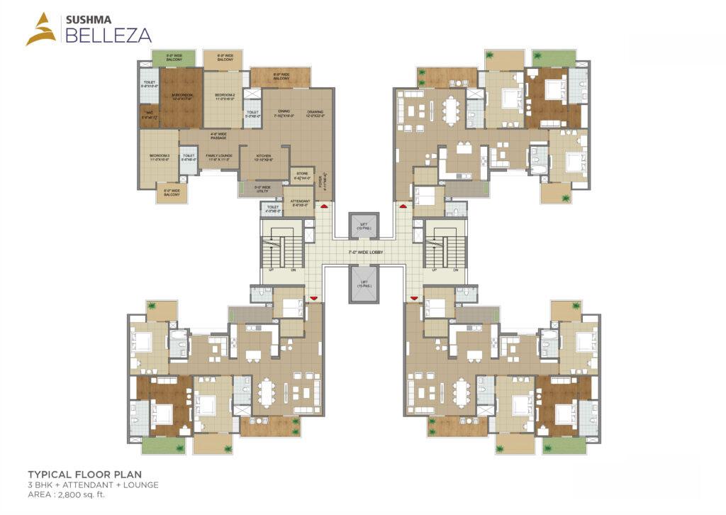 Sushma Belleza Floor Plan