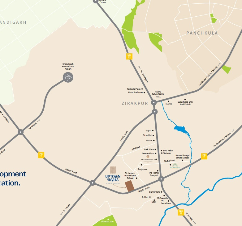 Uptown Skylla Location Map