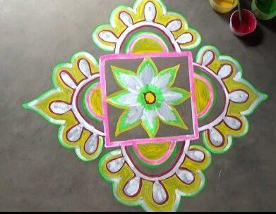 Alapna Rangoli Designs for New Year