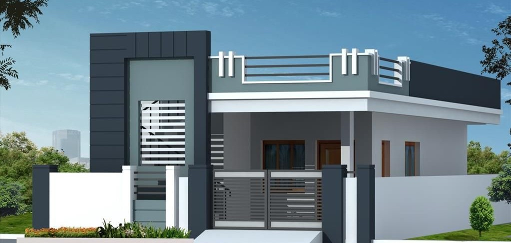 simple house front design
